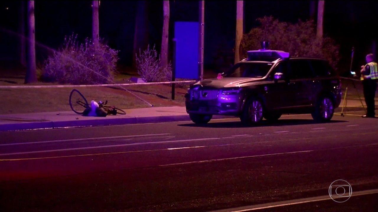 Mulher morre atropelada por Uber autônomo