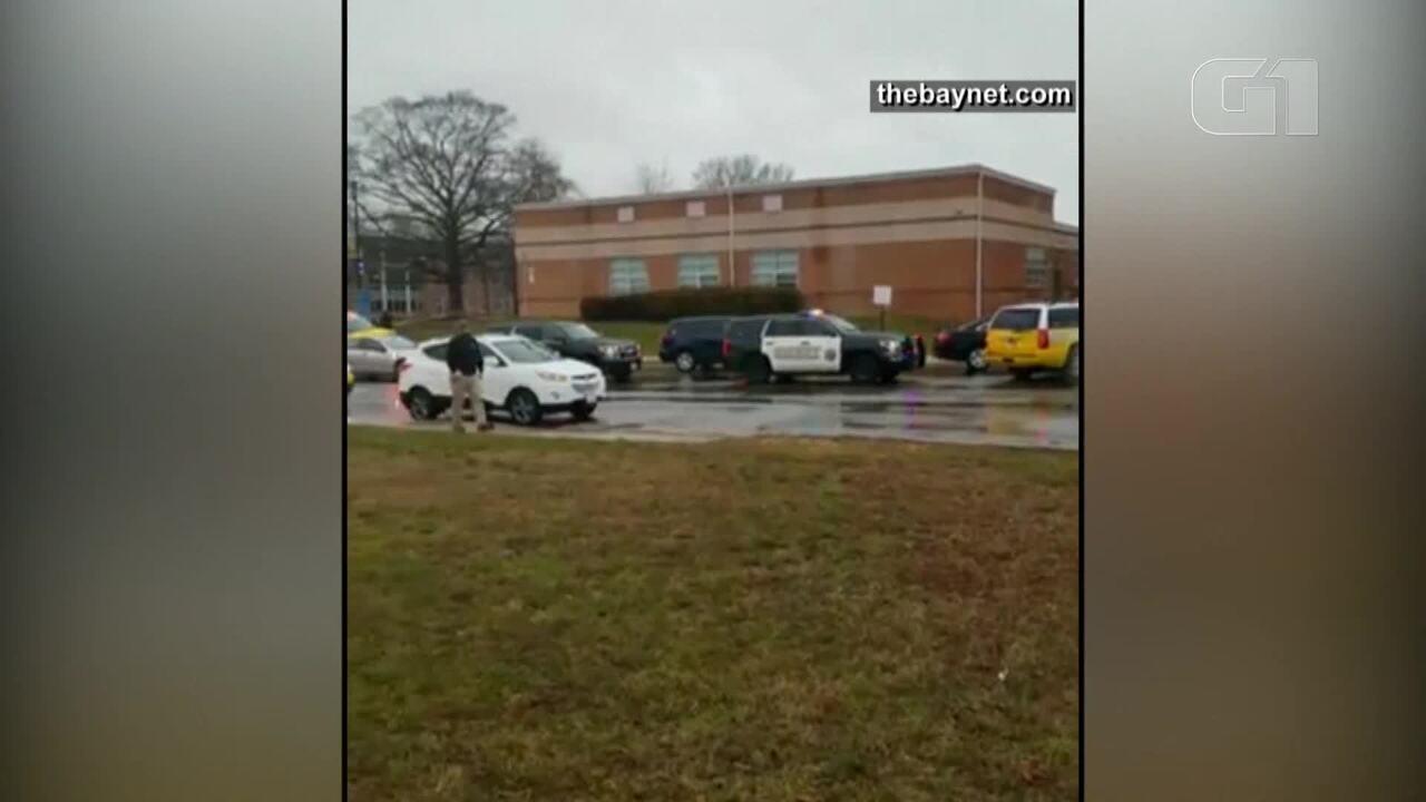 Tiroteio em escola deixa feridos em Maryland, nos Estados Unidos