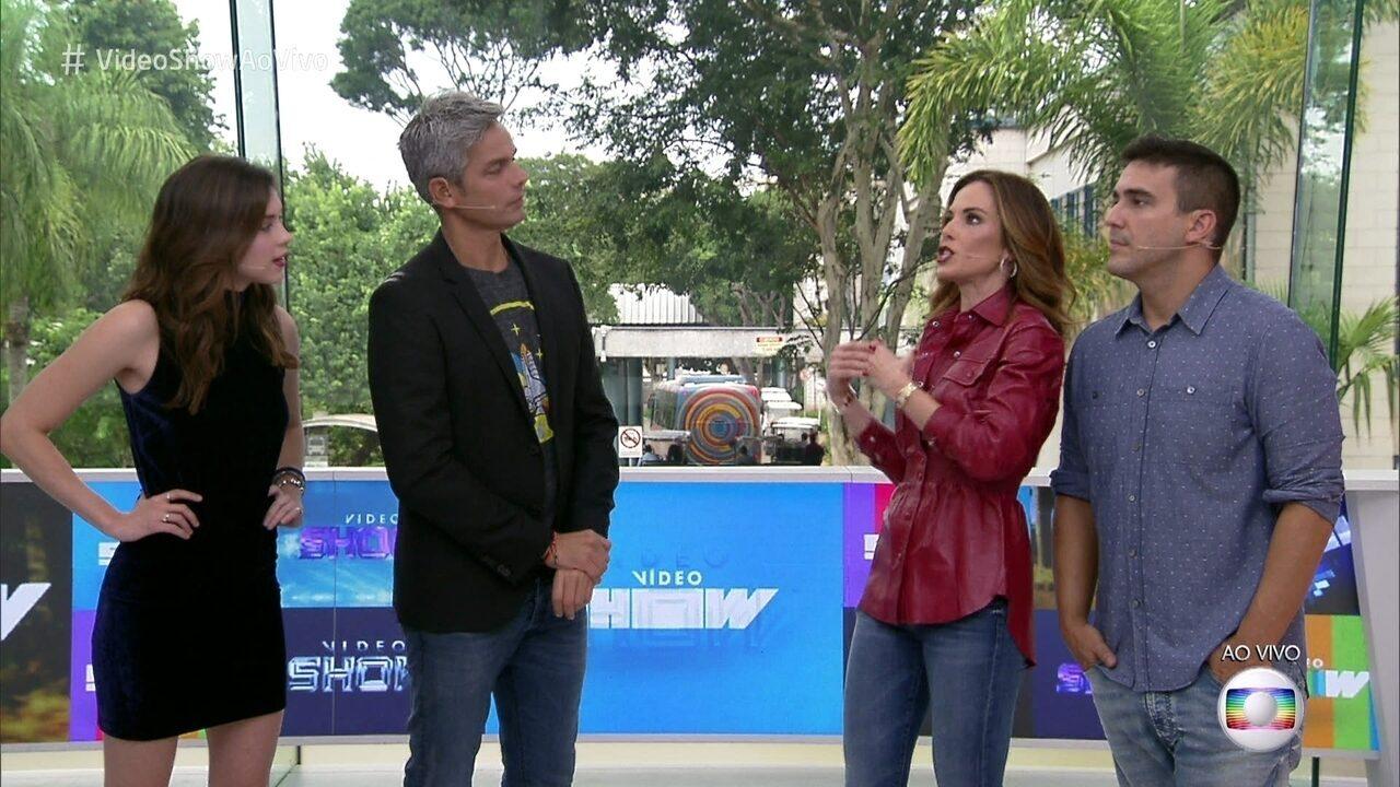 André Marques e Ana Furtado comemoram aniversário do 'Vídeo Show'