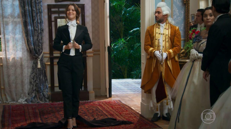 Capítulo de 21/03/2018 - Darcy e Elisabeta discutem. Darcy comenta com Camilo que deseja distância de Elisabeta. Felisberto e Ofélia planejam aproximar Camilo de uma de suas filhas. Elisabeta conta a Jane seu embate com Darcy.
