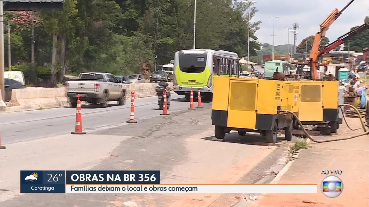 Começam obras no muro de contenção da BR-356, no Morro do Papagaio, em BH