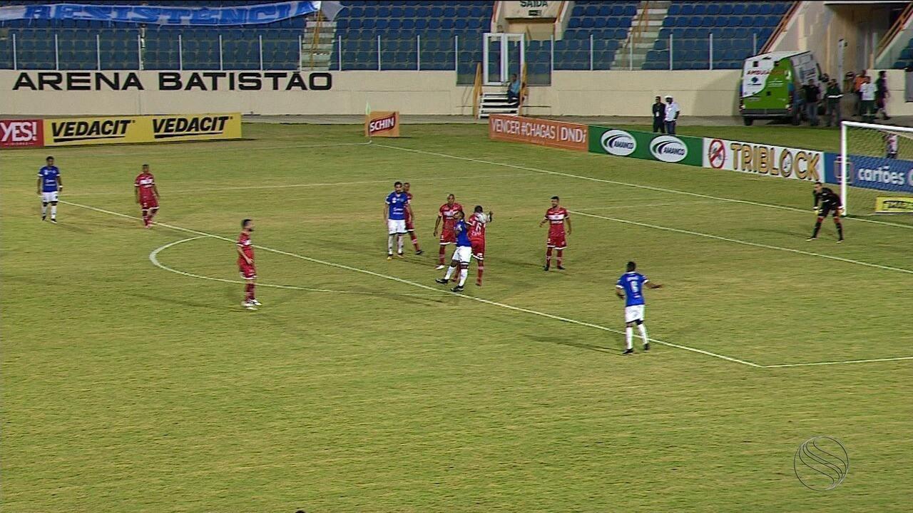 Em Aracaju, CRB empata com o Confiança, pela Copa do Nordeste