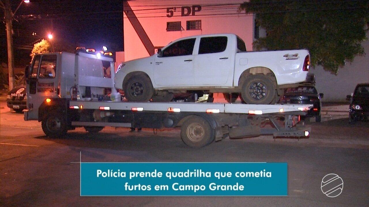 Polícia prende quadrilha que cometia furtos em Campo Grande