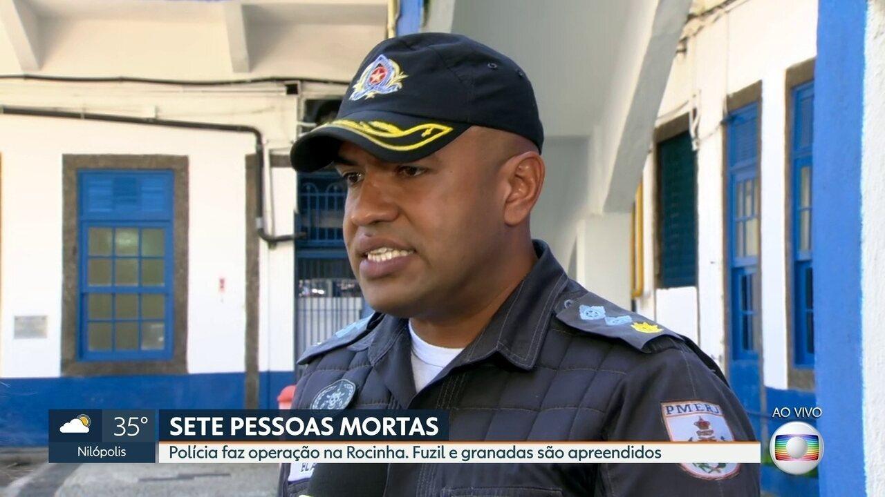 Porta-voz da PM fala sobre ação policial na Rocinha