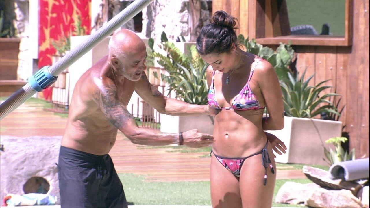Paula brinca com Ayrton: 'Achava que minha barriga era mole'