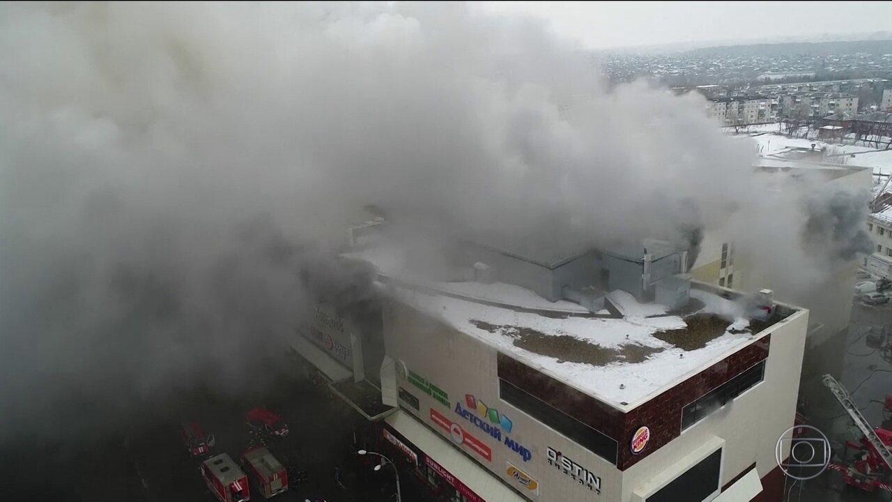 Número de mortos em incêndio de shopping na Rússia sobe para 64