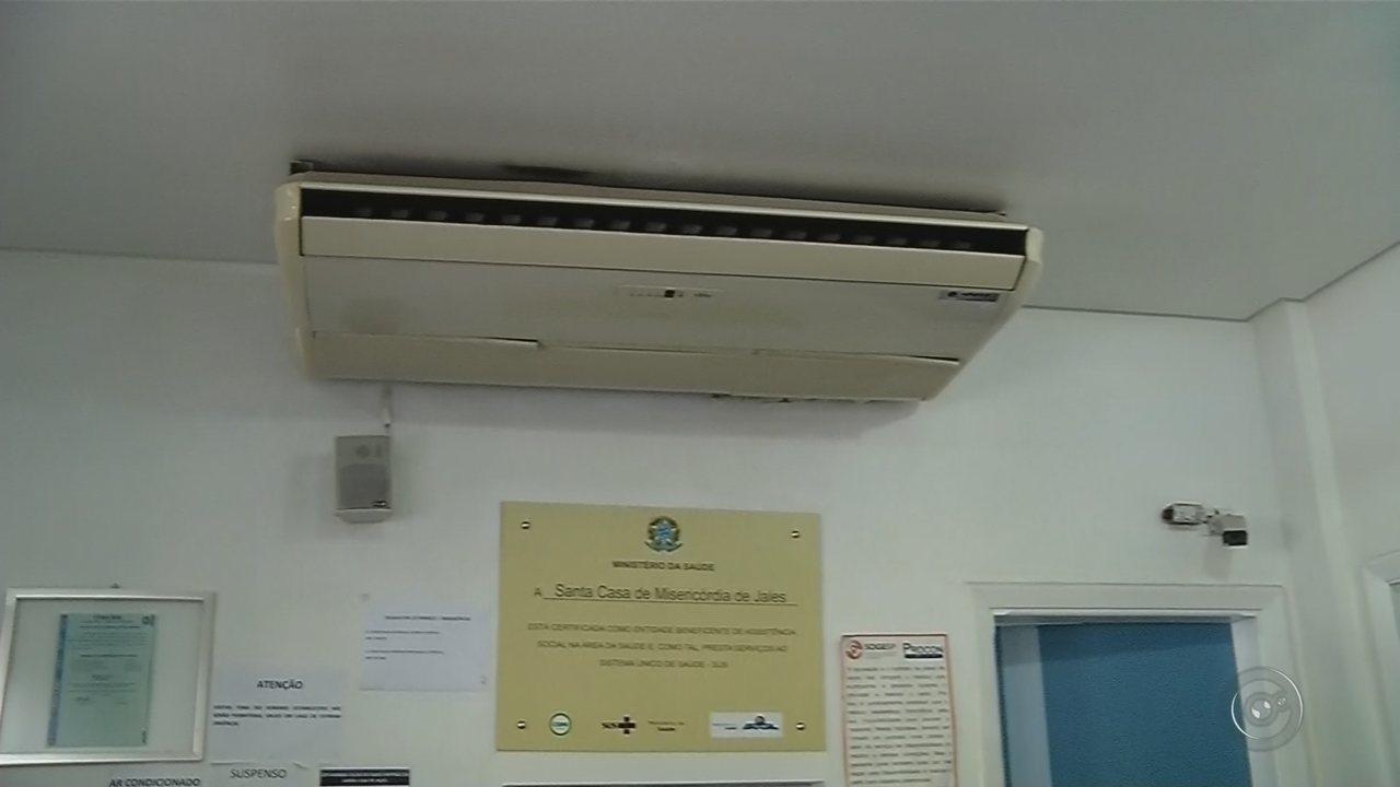 Pacientes internados pelos SUS na Santa Casa de Jales ficam em quartos sem ar-condicionado