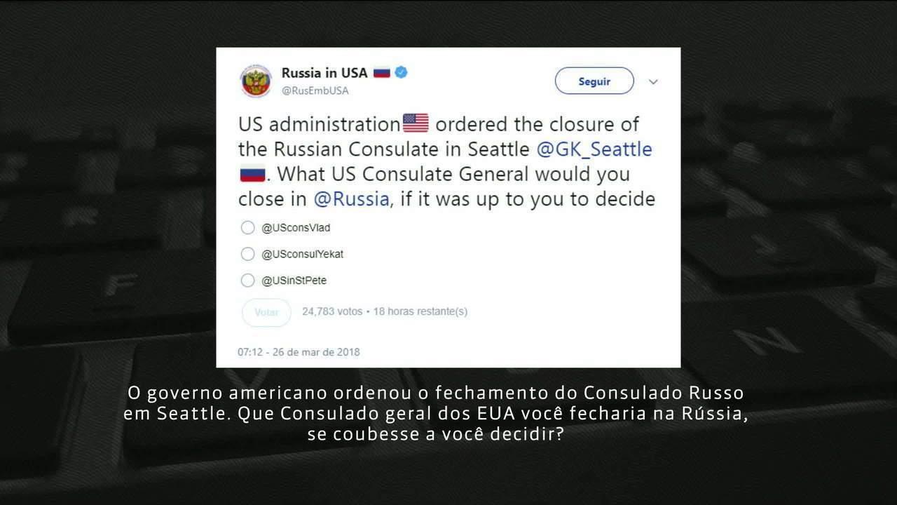 Decisão dos EUA de expulsar 60 diplomatas da Rússia agrava crise entre os dois países