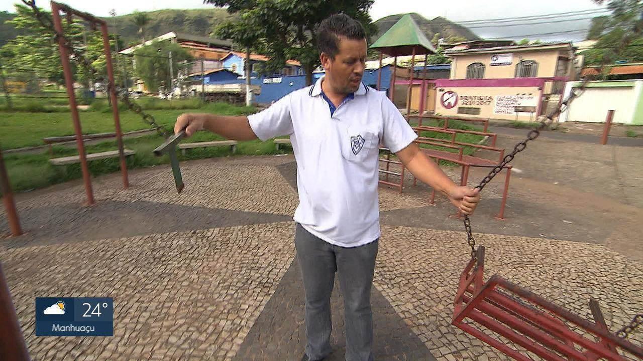 13ed0fbe47a Moradores denunciam abandono de praça no bairro Pilar