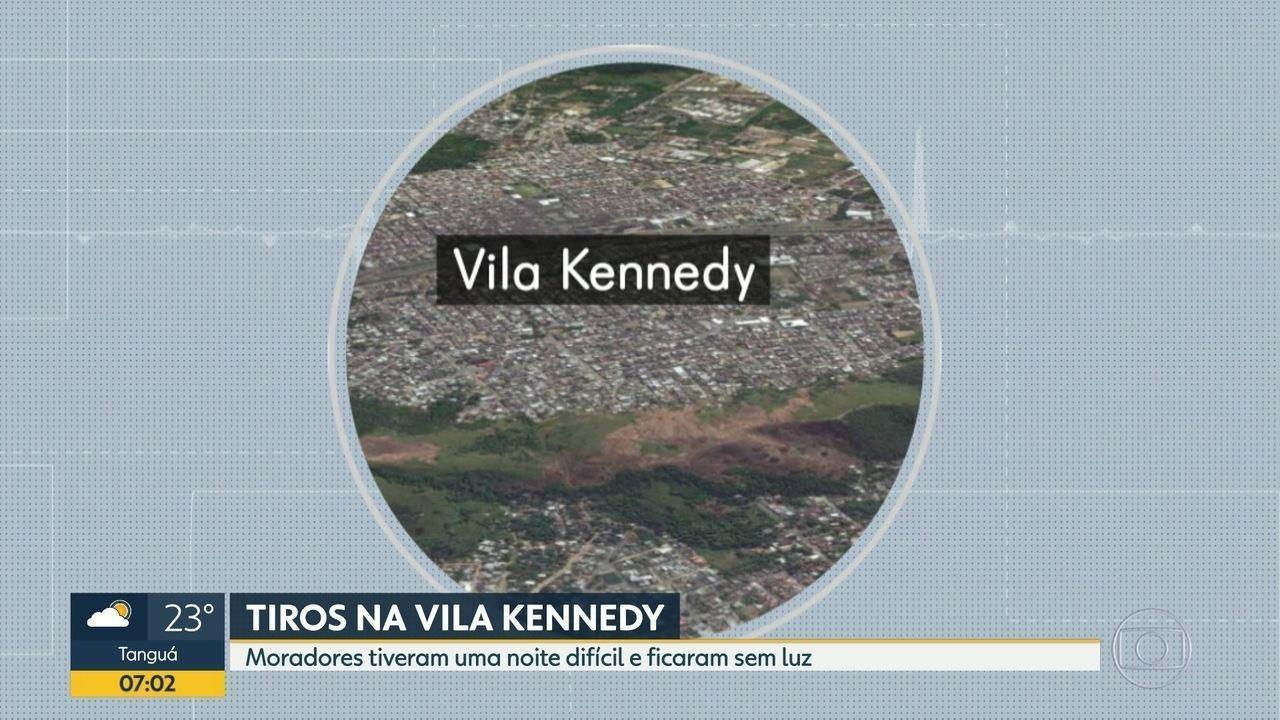 Moradores da Vila Kennedy registram intensa troca de tiros na comunidade