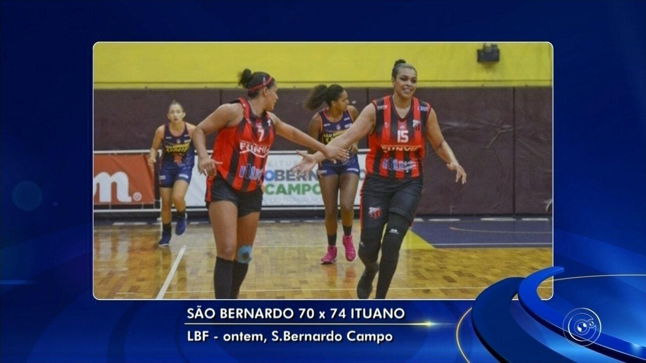 Ituano segura reação do São Bernardo e vence mais uma na LBF