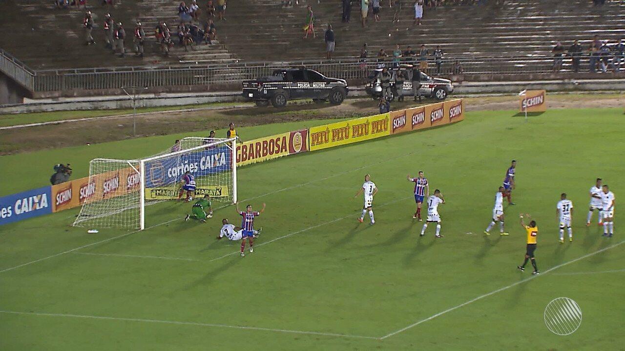 Bahia vence o Botafogo-PB por 2x0 pelo Nordestão