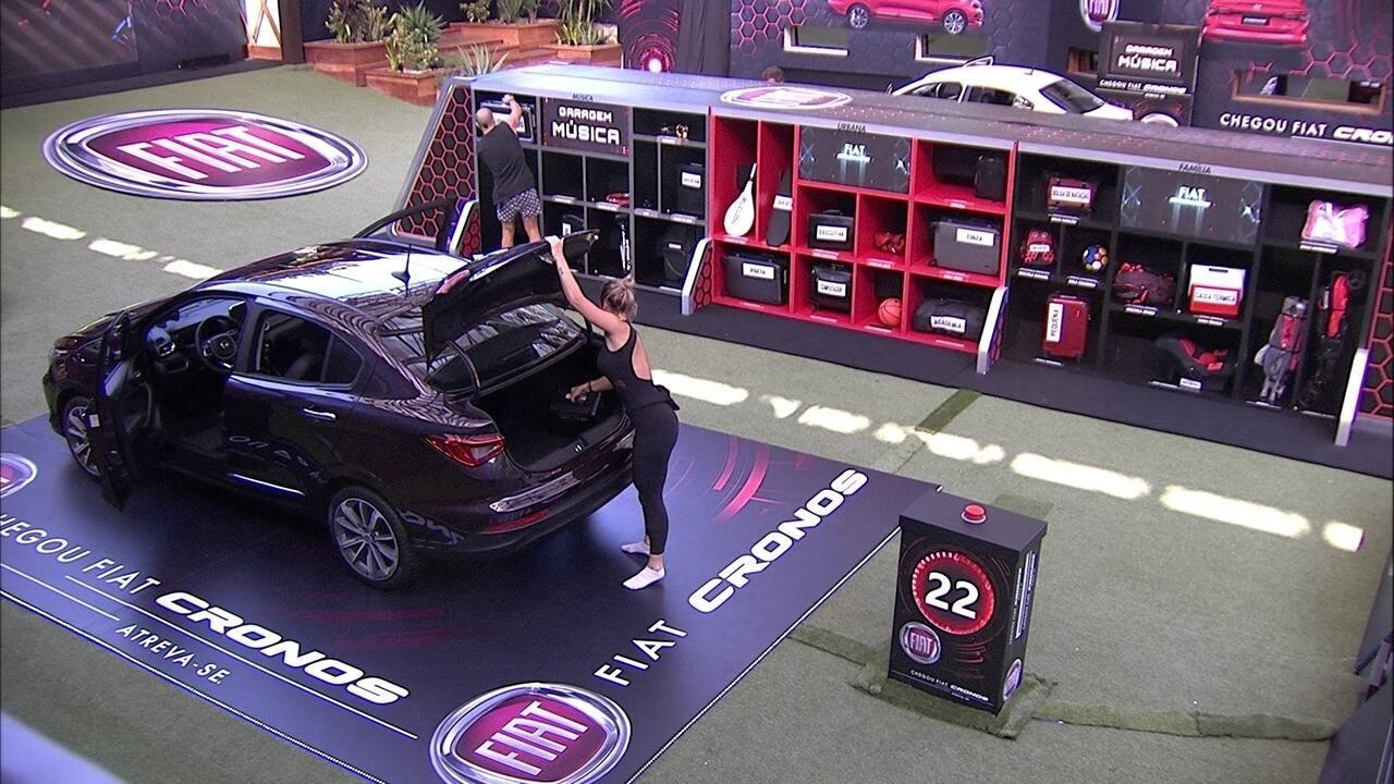 Kaysar e Jéssica cumprem mais uma etapa no Fiat Cronos Vermelho Marsala
