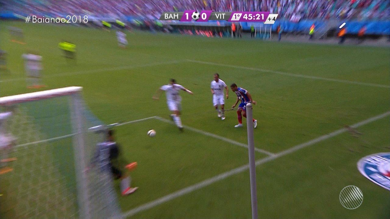 46': Bahia chega com perigo e quase marca mais um na Fonte