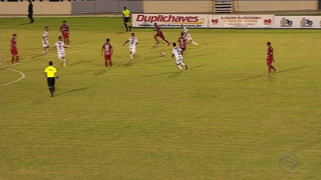Com gol de Brendon nos acréscimos do 2º tempo, Sergipe vence Lagarto na Arena Batistão