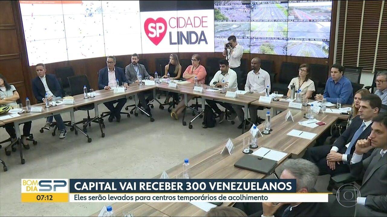 SP vai receber 300 venezuelanos em centros de acolhimento