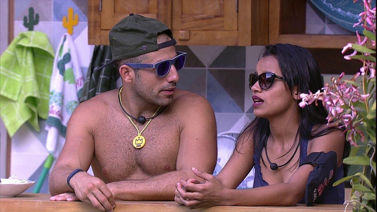 Gleici afirma para Kaysar sobre família Lima: 'Não ia votar em você tão cedo'