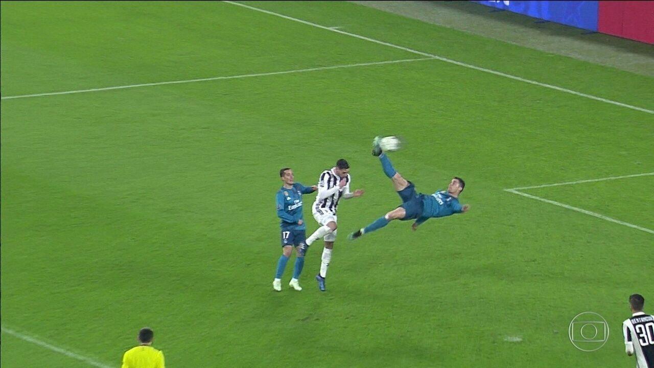8ecafcd24313b Cristiano Ronaldo faz gol de bicicleta e é aplaudido pela torcida  adversária na Liga