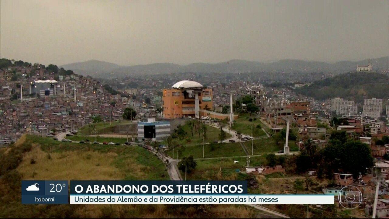 Teleféricos no Rio estão parados há meses