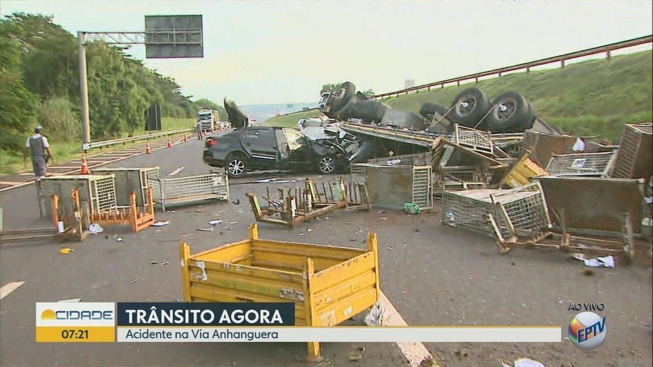 Colisão entre carro e caminhão mata motorista entre Ribeirão Preto e Orlândia, SP