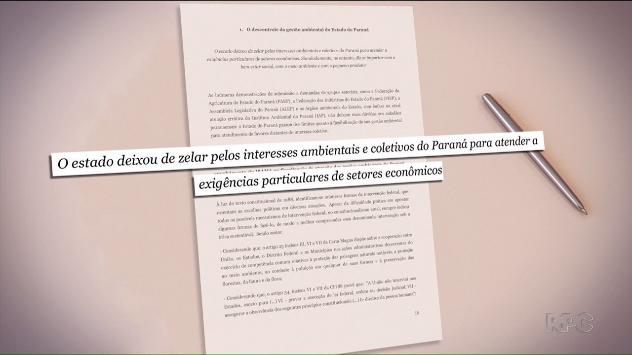 Entidades pedem a intervenção do Ibama no Instituto Ambiental do Paraná