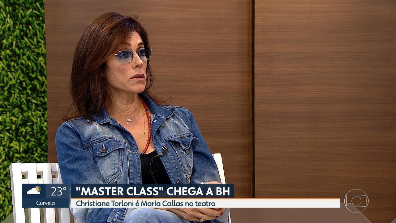 Atriz Christiane Torloni está em cartaz em BH com o espetáculo 'Master Class'