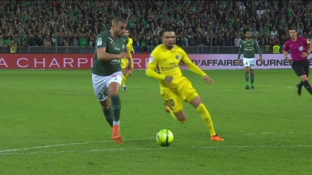Melhores momentos: Saint Étienne 1 x 1 PSG pela 32ª rodada do Campeonato Francês