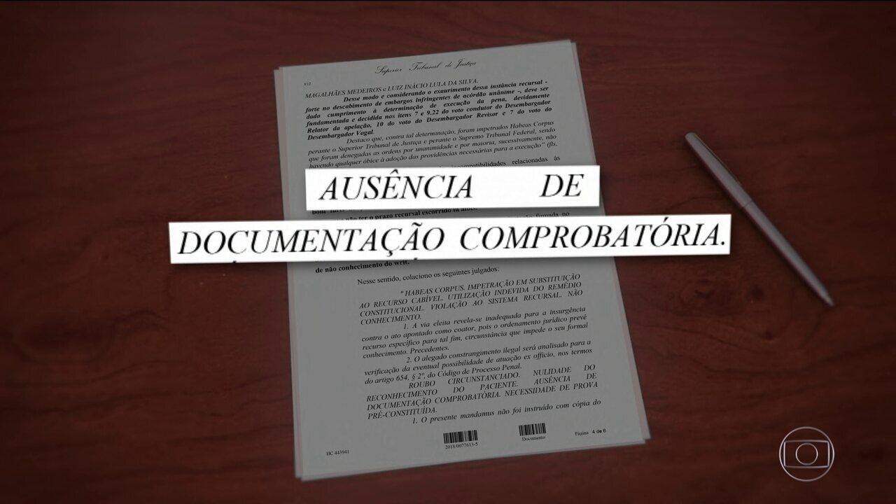 Ministro do STJ nega mais um pedido de habeas corpus da defesa de Lula