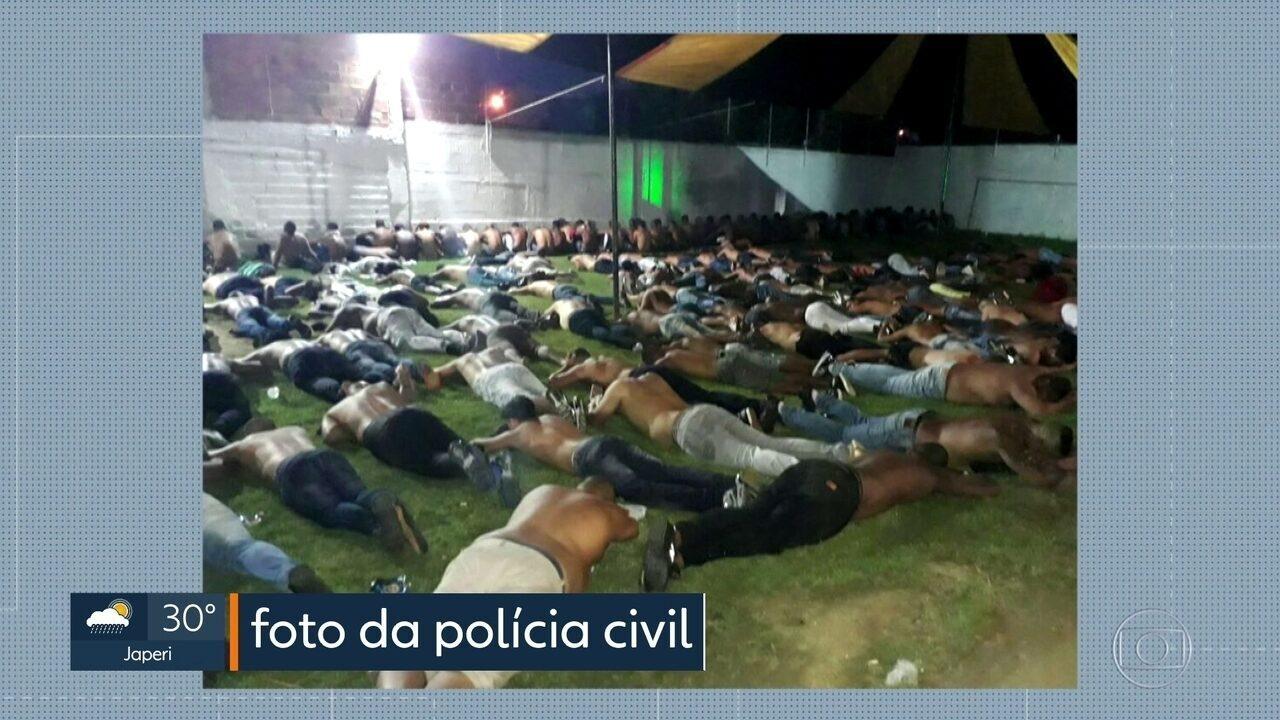 Operação policial prende mais de 140 suspeitos de envolvimento com milícia