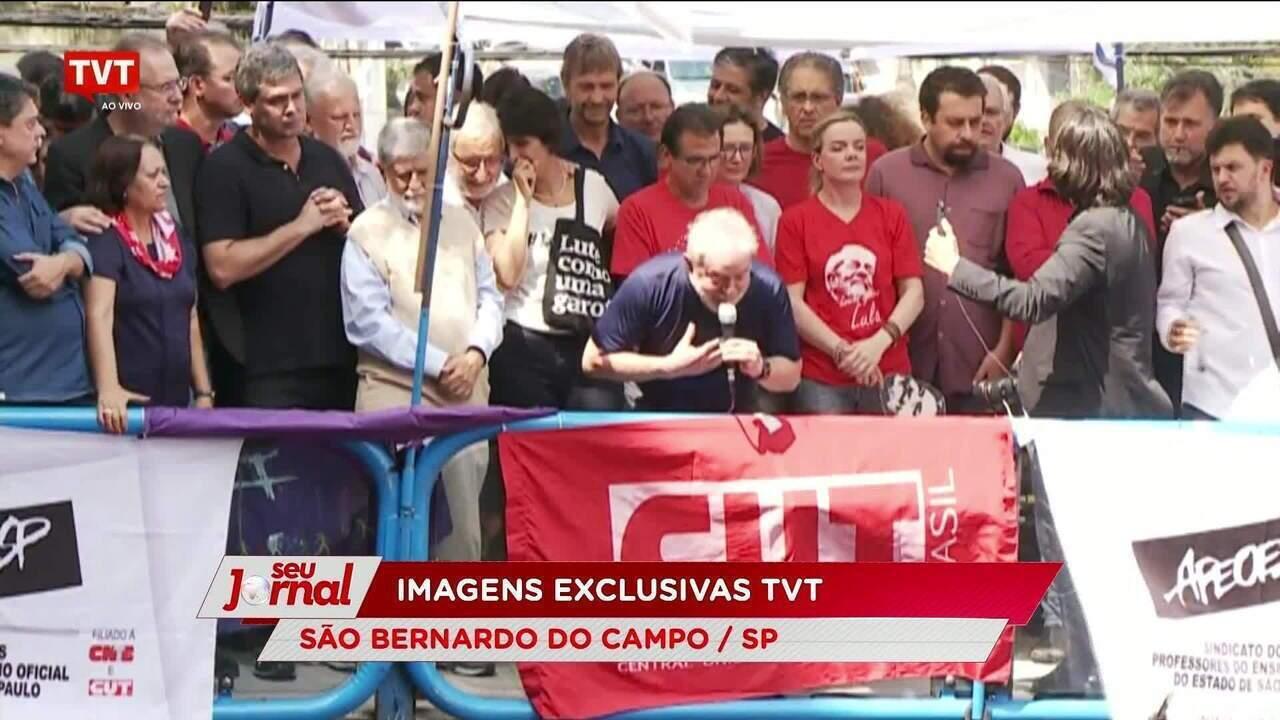 Lula afirma que vai atender ordem de prisão