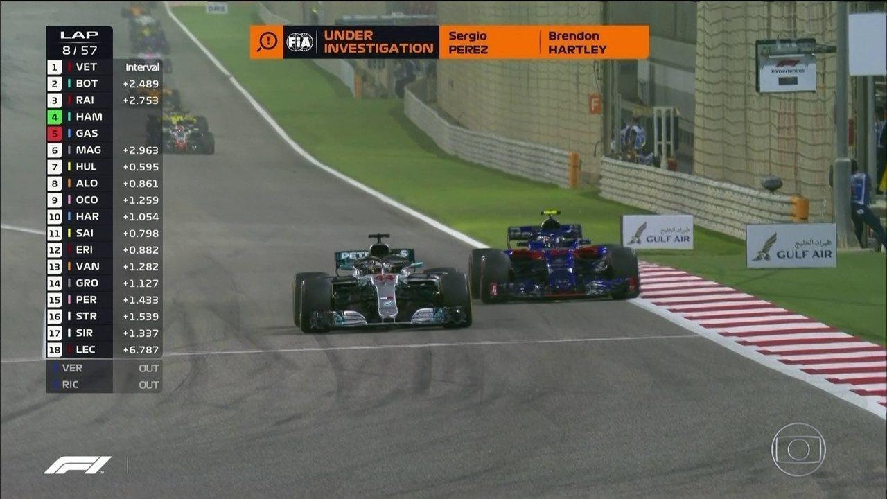 Hamilton passa Gasly e assume a quarta posição