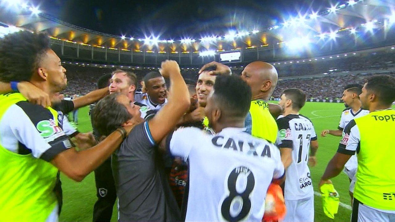 Os pênaltis de Vasco 0 (3) x (4) 1 Botafogo pela final do Campeonato Carioca 2018