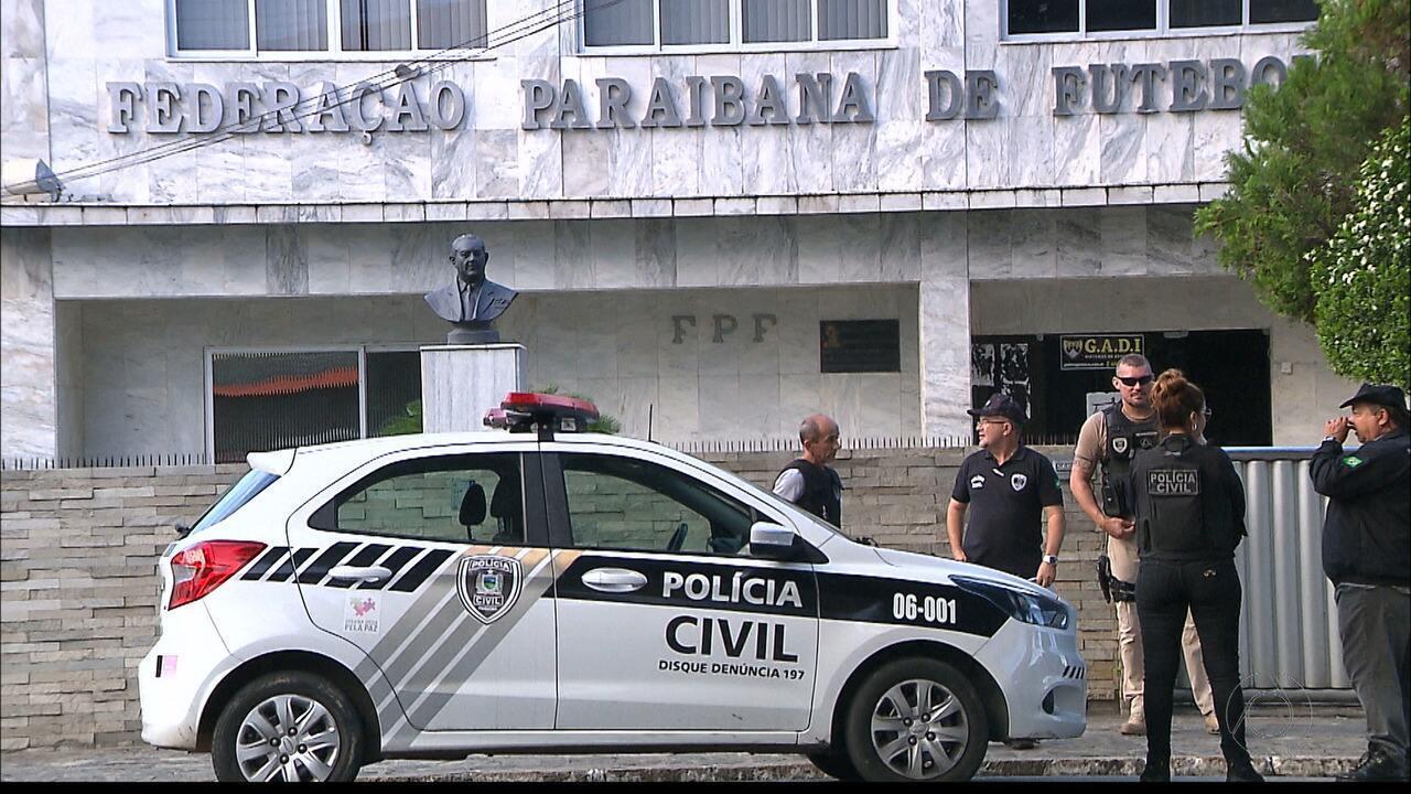 Polícia Civil e Gaeco investigam desvio de dinheiro e fraude no futebol paraibano