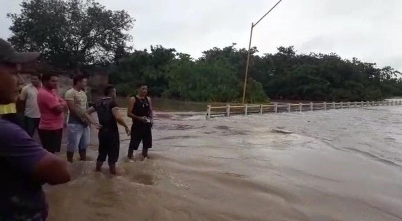 Vídeo mostra município de Tuntum alagado após chuva