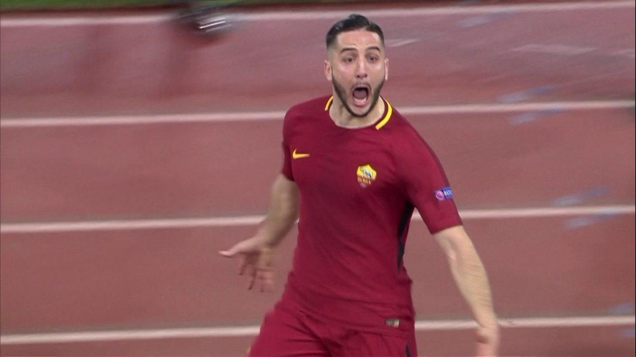 Os gols de Roma 3 x 0 Barcelona pelas quartas de final da Liga dos Campeões