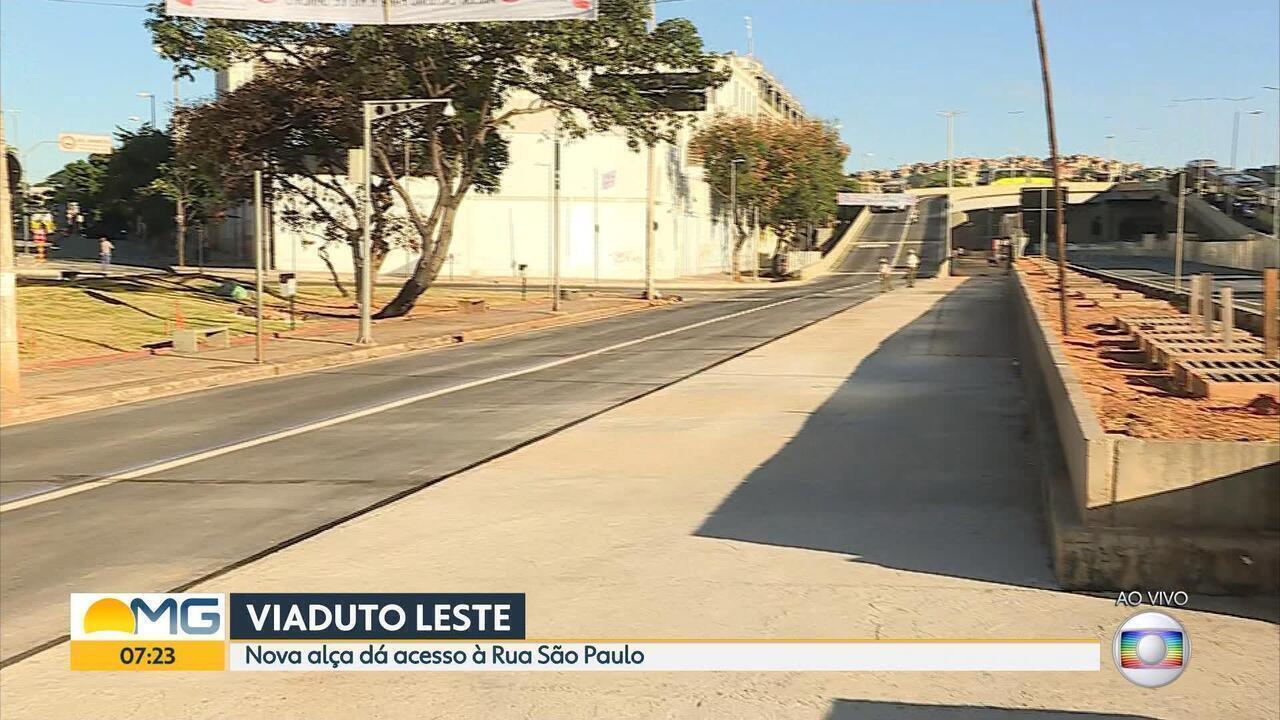 Alça do viaduto do Complexo da Lagoinha é liberada nesta sexta-feira em Belo Horizonte