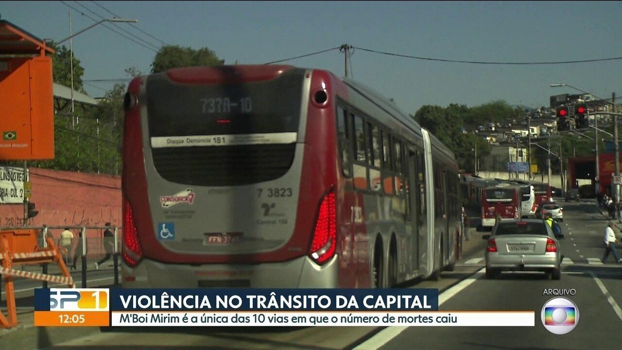 Quase 800 pessoas morreram em acidentes de trânsito em 2017 em São Paulo