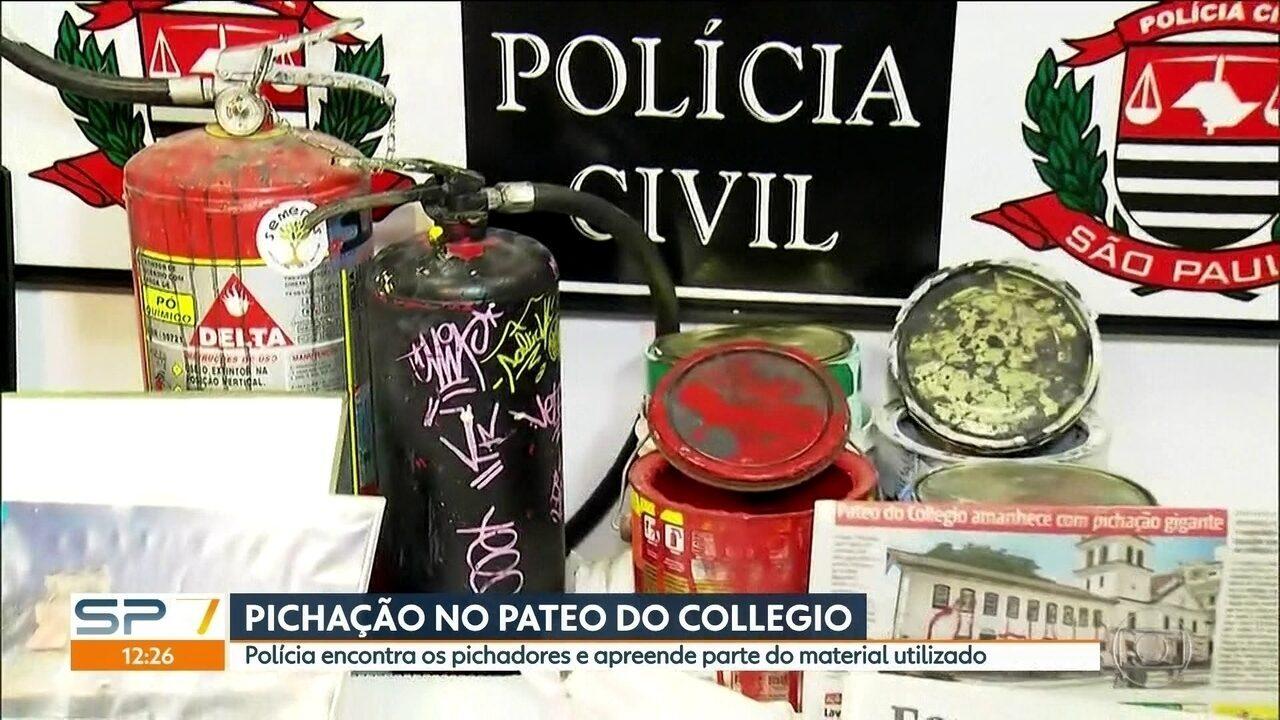 Polícia encontra pichadores do Museu Anchieta no Pateo do Collegio