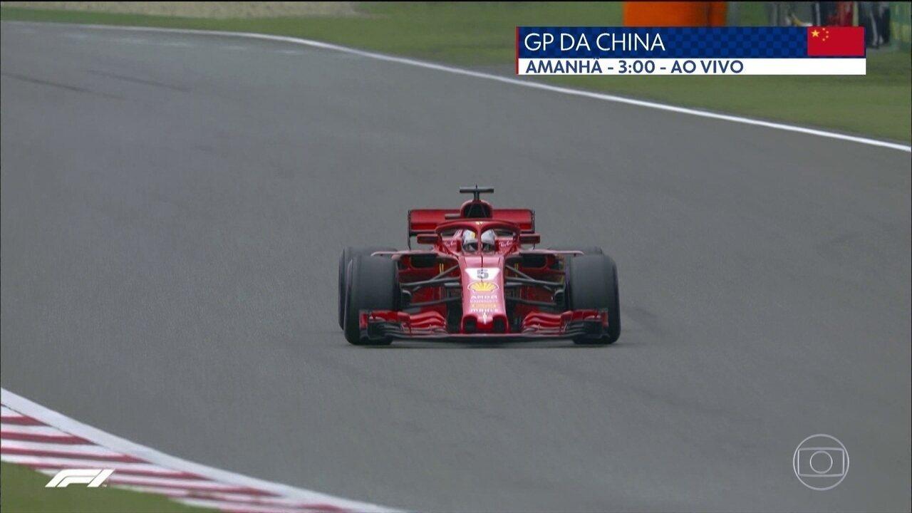 Vettel reafirma excelente fase e faz 3ª pole seguida na Temporada durante treino na China