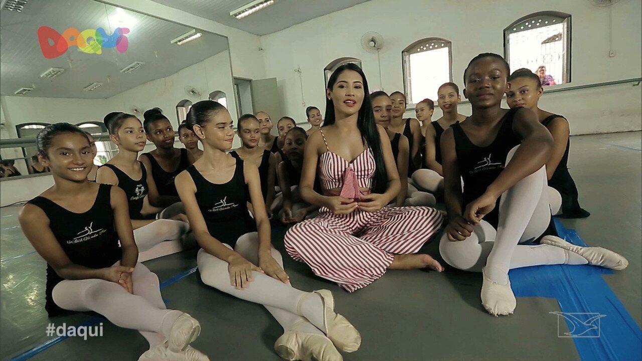Kiu da Thay visita o projeto 'Dança Criança'
