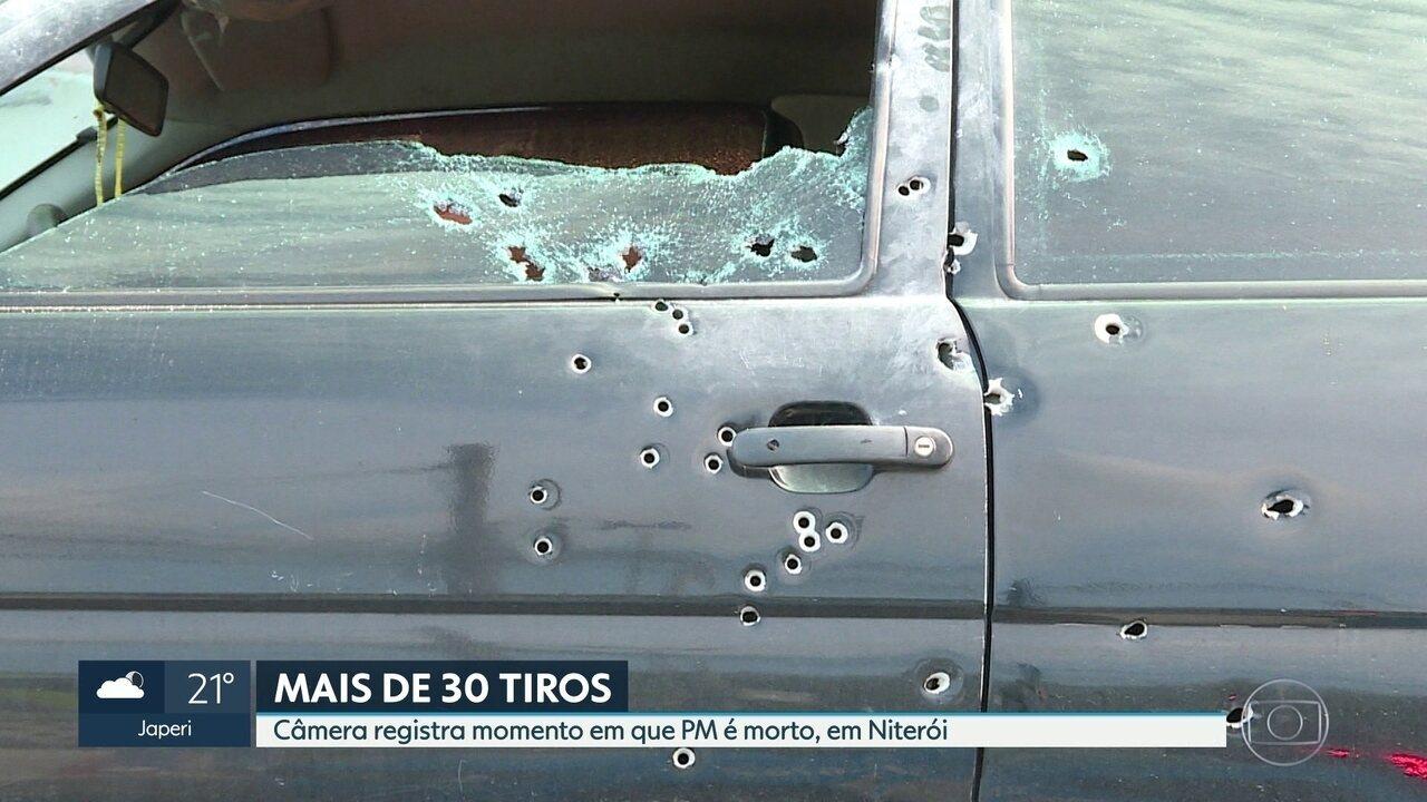 A polícia procura pelos assassinos de mais um PM no Rio. Ele foi morto em Niterói