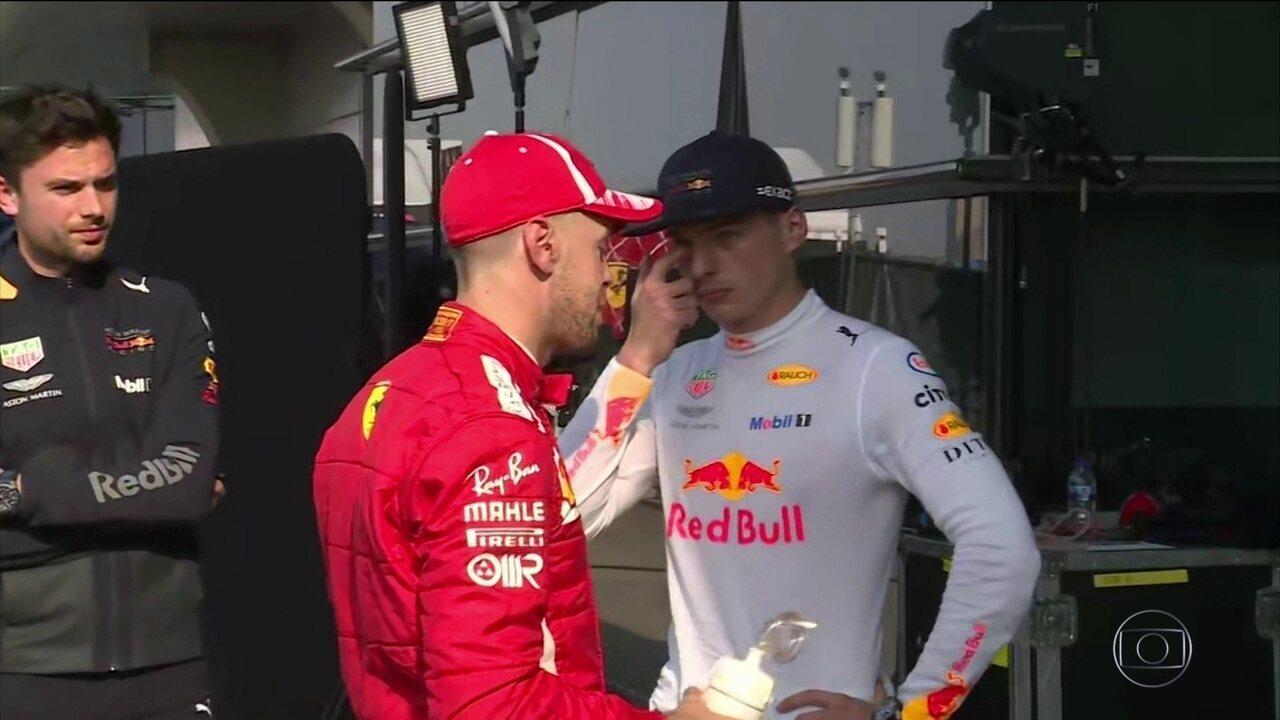 Verstappen se desculpa com Vettel por lambança que estragou corrida do alemão