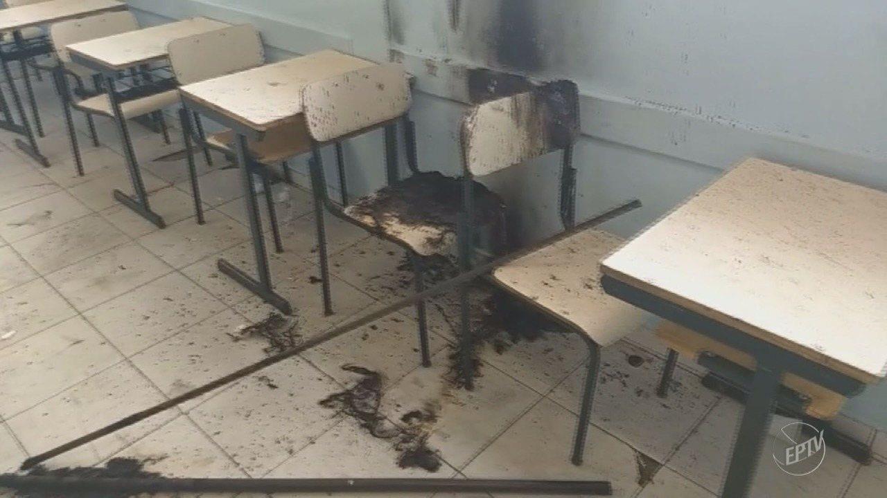 Escola Estadual de Campinas suspende aulas após ser vandalizada