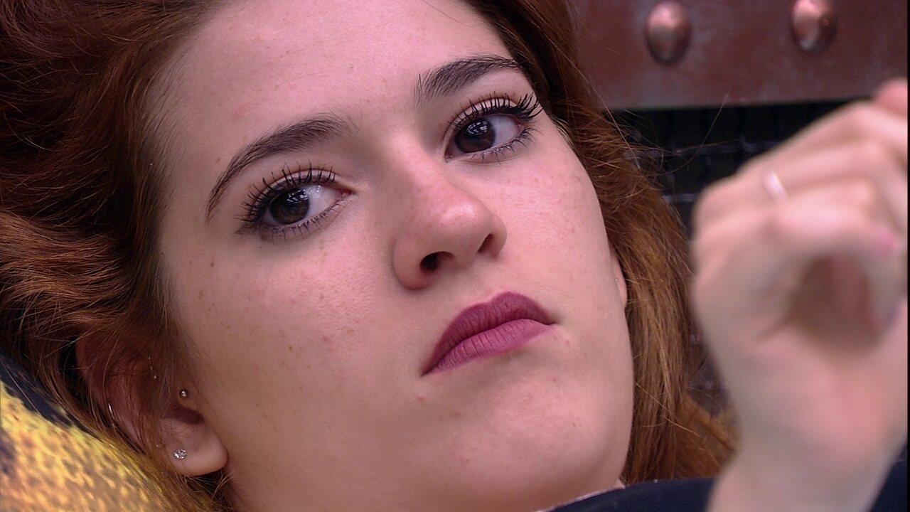 Ana Clara diz que gosta muito de Kaysar, mas podera: 'Ele não se arriscou aqui dentro'