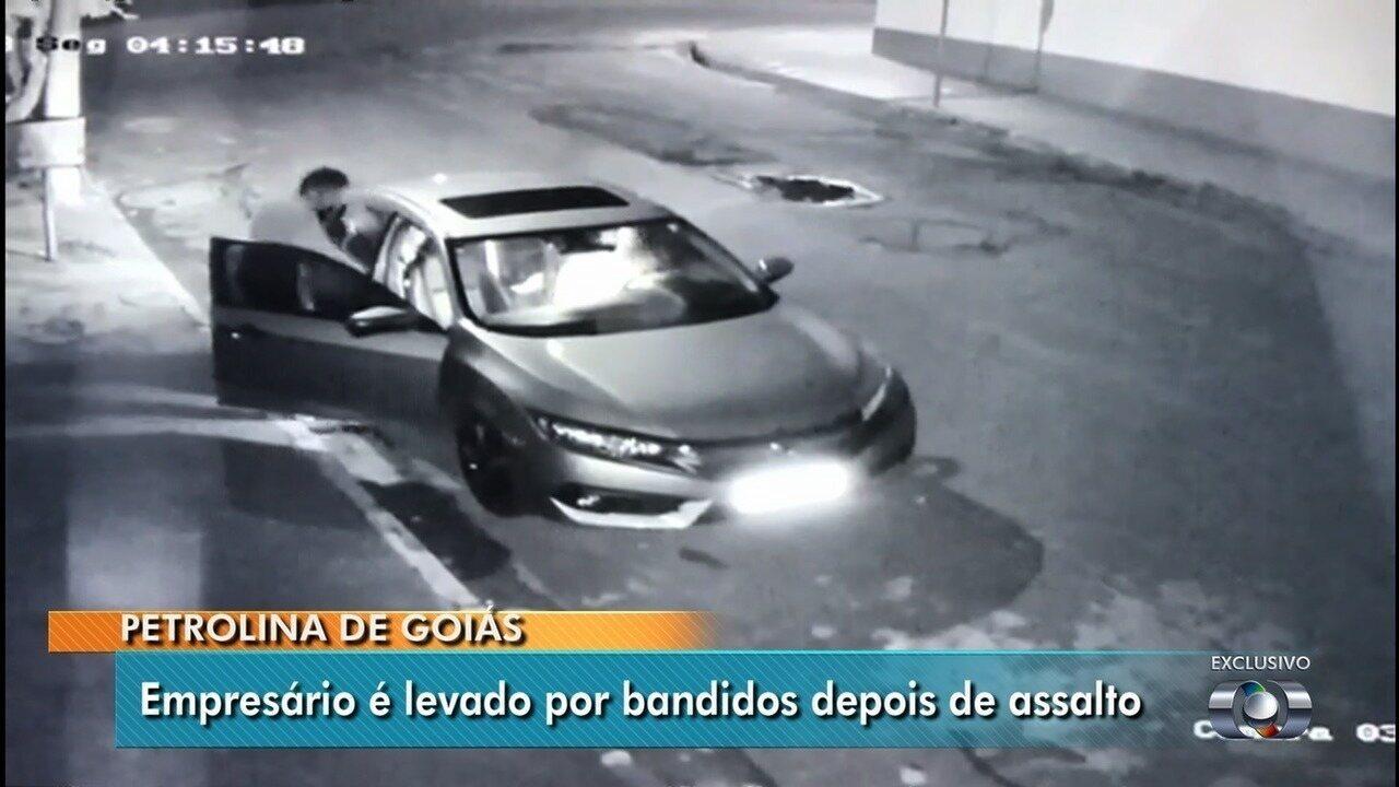 Polícia Civil continua buscas por empresário de Petrolina de Goiás levado durante assalto