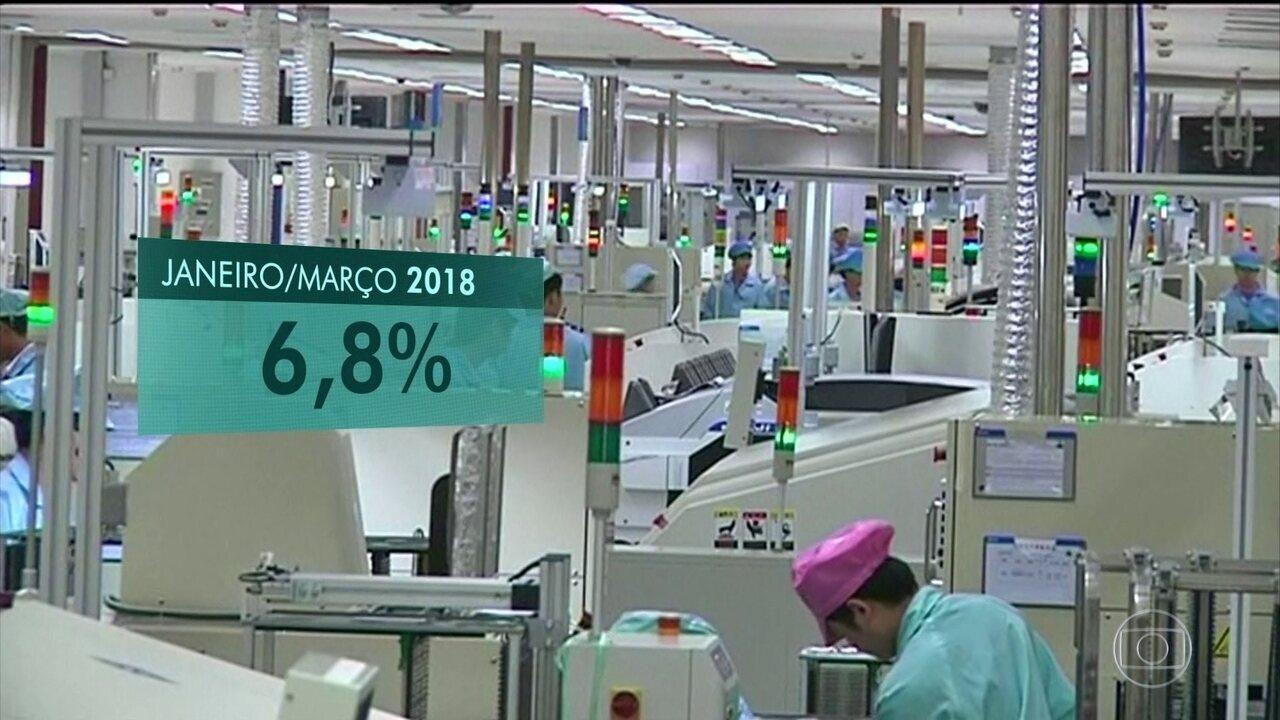 China teve crescimento acima do esperado no trimestre