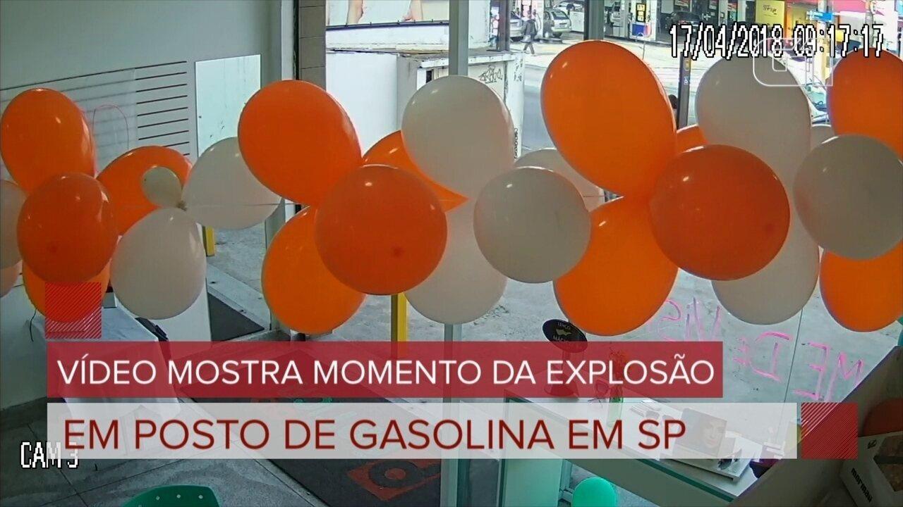 Vídeo mostra momento da explosão em posto de gasolina em SP