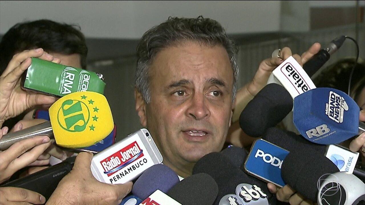 Senador Aécio Neves, do PSDB de Minas, vira réu, pela primeira vez, no Supremo
