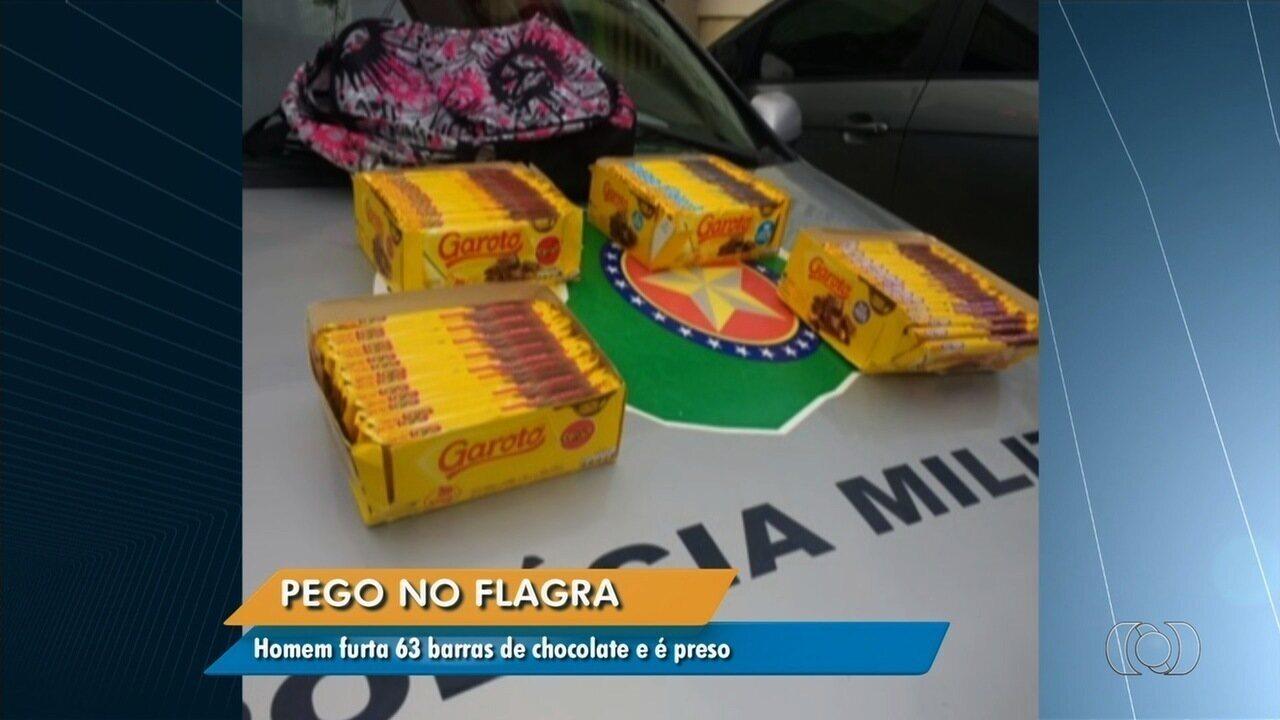 55b9f7000 Anhanguera Notícias  Homem é preso suspeito de furtar 63 barras de  chocolate em shopping