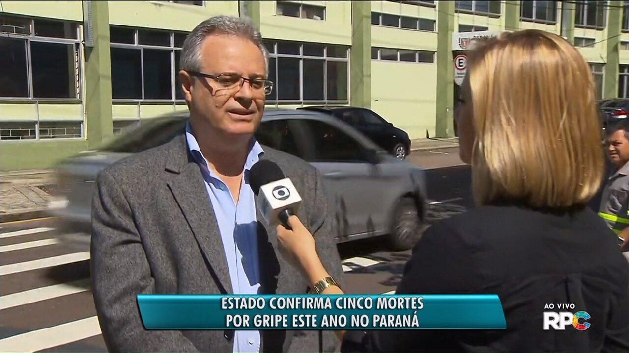 Paraná teve cinco mortes por gripe esse ano